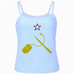 Cccp Mouse Pen Baby Blue Spaghetti Tank by youshidesign
