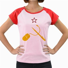 Cccp Mouse Pen Women s Cap Sleeve T Shirt (colored) by youshidesign