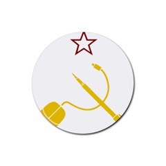 Cccp Mouse Pen Drink Coaster (round) by youshidesign