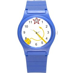 Cccp Mouse Pen Plastic Sport Watch (small) by youshidesign