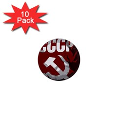 Cccp Soviet Union Flag 1  Mini Magnet (10 Pack)  by youshidesign