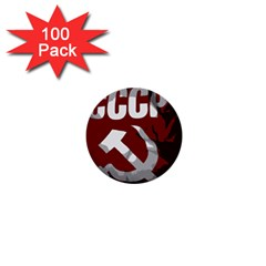 Cccp Soviet Union Flag 1  Mini Button (100 Pack)  by youshidesign