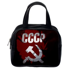 Cccp Soviet Union Flag Classic Handbag (one Side) by youshidesign