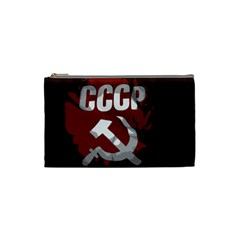 Cccp Soviet Union Flag Cosmetic Bag (small) by youshidesign