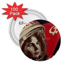 Soviet Union In Space 2 25  Button (100 Pack) by youshidesign