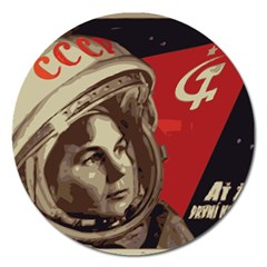 Soviet Union In Space Magnet 5  (round) by youshidesign