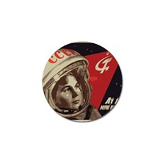 Soviet Union In Space Golf Ball Marker 4 Pack by youshidesign