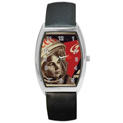 Soviet Union In Space Tonneau Leather Watch by youshidesign
