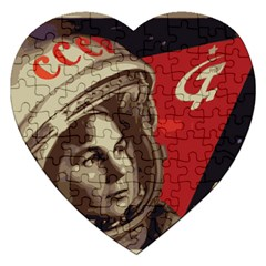 Soviet Union In Space Jigsaw Puzzle (heart) by youshidesign