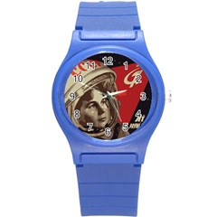 Soviet Union In Space Plastic Sport Watch (small) by youshidesign