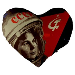 Soviet Union In Space 19  Premium Heart Shape Cushion by youshidesign