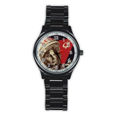 Soviet Union In Space Sport Metal Watch (black) by youshidesign