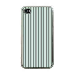 Light Green And Grey Strip Copy Apple Iphone 4 Case (clear) by MCGIFTSHOP
