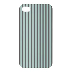 Light Green And Grey Strip Copy Apple Iphone 4/4s Hardshell Case by MCGIFTSHOP