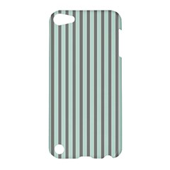 Light Green And Grey Strip Copy Apple Ipod Touch 5 Hardshell Case by MCGIFTSHOP