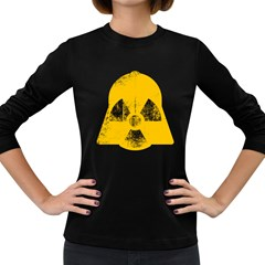 Danger (yellow) Womens' Long Sleeve T Shirt (dark Colored)