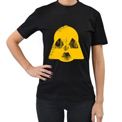Danger (yellow) Womens' T Shirt (black)