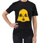 DANGER (Yellow) Womens' T-shirt (Black) Front