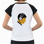 Space Beats Women s Cap Sleeve T-Shirt (White) Back