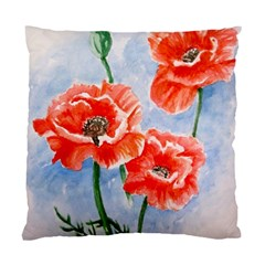 Poppies Cushion Case (single Sided)  by ArtByThree