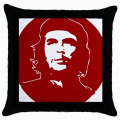 Chce Guevara, Che Chick Black Throw Pillow Case by youshidesign