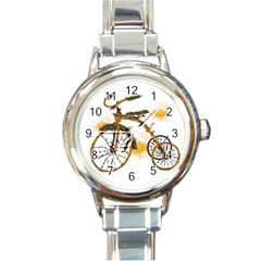 Tree Cycle Round Italian Charm Watch by Contest1753604