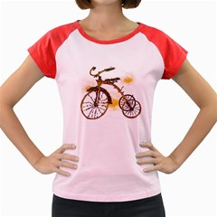 Tree Cycle Women s Cap Sleeve T Shirt (colored)