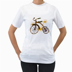 Tree Cycle Womens  T Shirt (white) by Contest1753604