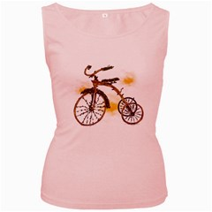 Tree Cycle Womens  Tank Top (pink) by Contest1753604