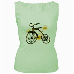 Tree Cycle Womens  Tank Top (green) by Contest1753604