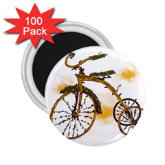 Tree Cycle 2 25  Button Magnet (100 Pack)