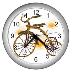 Tree Cycle Wall Clock (silver) by Contest1753604
