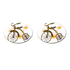 Tree Cycle Cufflinks (oval) by Contest1753604