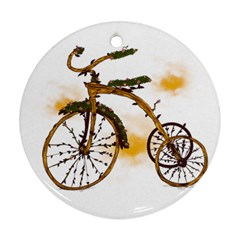 Tree Cycle Round Ornament (two Sides) by Contest1753604