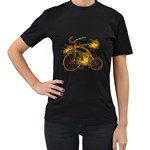 Tree Cycle Womens' T-shirt (Black) Front