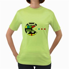 Color Eater Womens  T Shirt (green)