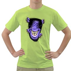 Hello   I m Purple Mens  T Shirt (green)