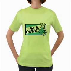 Be Gone Womens  T Shirt (green) by Contest1703156