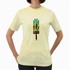 Paint Your World  Womens  T Shirt (yellow)