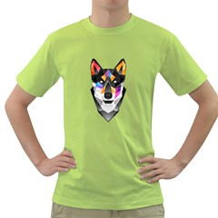 Wolf Mens  T Shirt (green) by Contest1741741