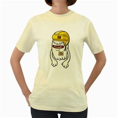 Ghost  Womens  T Shirt (yellow) by Contest1741741