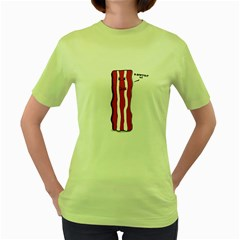D Don t Eat Me Womens  T Shirt (green)