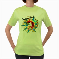 Dream Real Womens  T Shirt (green) by Contest1755477