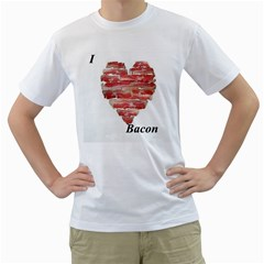 I Heart Bacon Mens  T Shirt (white) by Contest1604080
