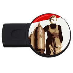Power  To The Masses Usb Flash Drive Round (4 Gb) by youshidesign