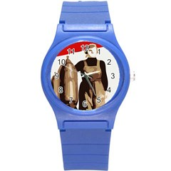 Power To The Masses Plastic Sport Watch (small) by youshidesign