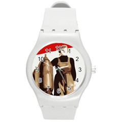Power To The Masses Plastic Sport Watch (medium) by youshidesign