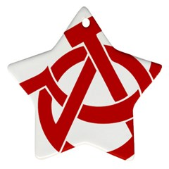 Hammer Sickle Anarchy Star Ornament by youshidesign
