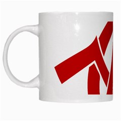 Hammer Sickle Anarchy White Coffee Mug by youshidesign