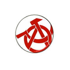 Hammer Sickle Anarchy Golf Ball Marker (for Hat Clip) by youshidesign